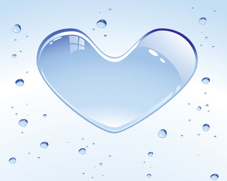 set of unusual heart elements vector graphic