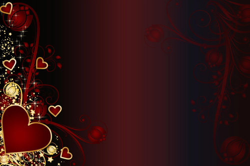 set of valentine day decor elements vector