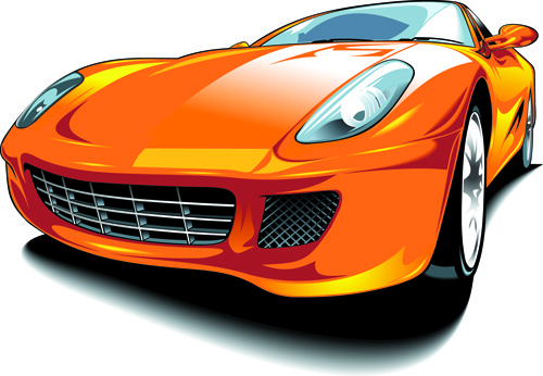 set of various sport cars vector