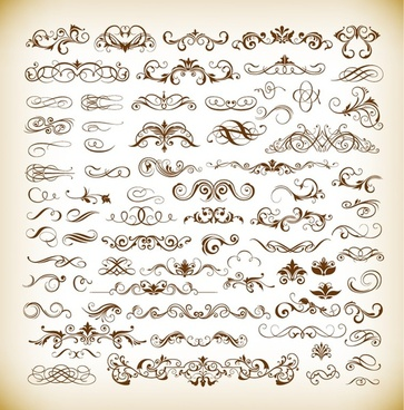 set of vector floral elements for your design