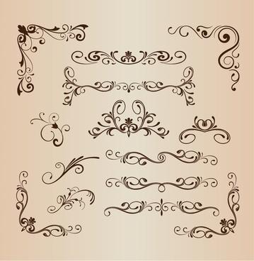 set of vector vintage design elements