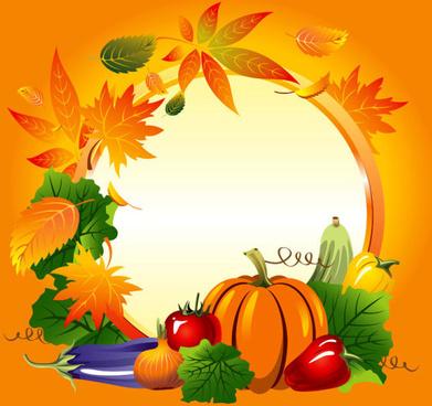 set of vegetable background vector