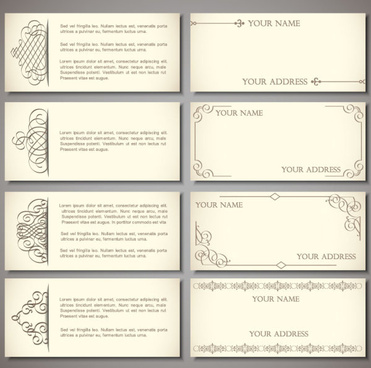 Vintage business card free vector download 28495 free vector for set of vintage business card design vector colourmoves