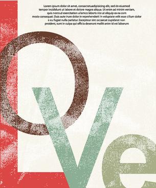 set of vintage love design elements vector