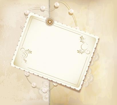 set of vintage photo frames vector