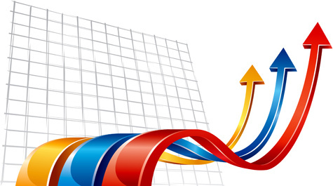 set of wave arrows vector backgrounds