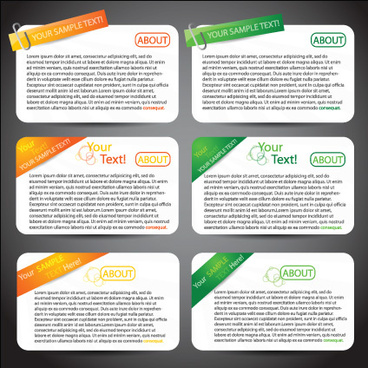 set of website information banner elements vector