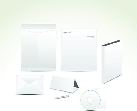 set of white box dvd design vector graphics