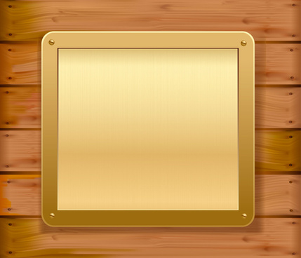 set of wooden background with frames vector