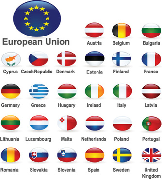 set of world flags icons mix design vector