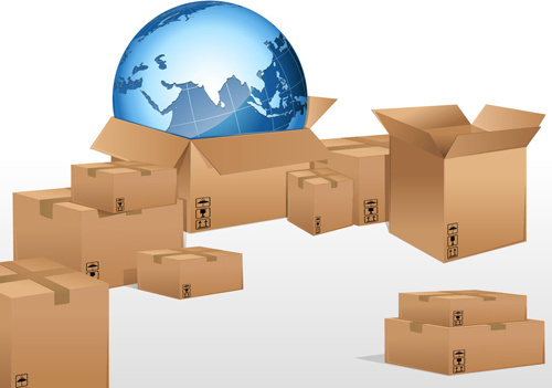 set of world logistic design vector
