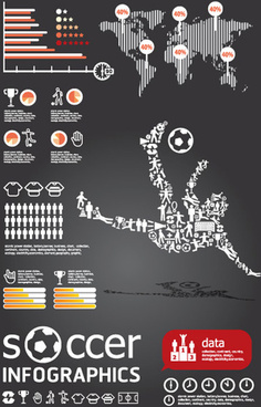 set of year infographic and diagram vector