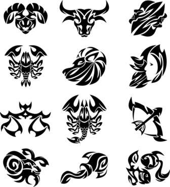 Gambar zodiak leo free vector download 98 free vector for set of zodiak icon vector reheart