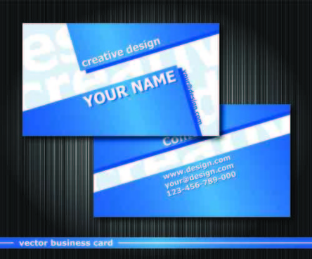 set vector business card elements
