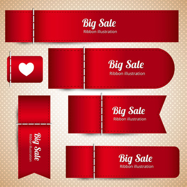 sets of red leather designed sale banners