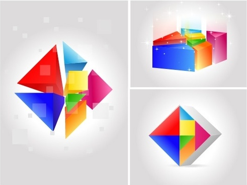 seven color changing vector