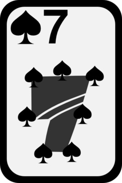 Seven Of Spades clip art