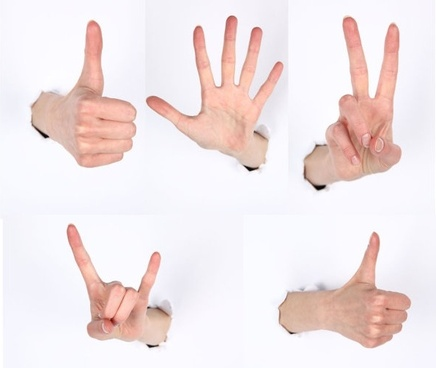 several gestures hd picture