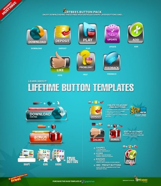 several icons psd layered