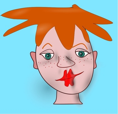 Shaded Cartoon Face