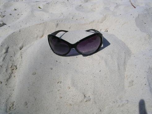 shades sunglasses sand