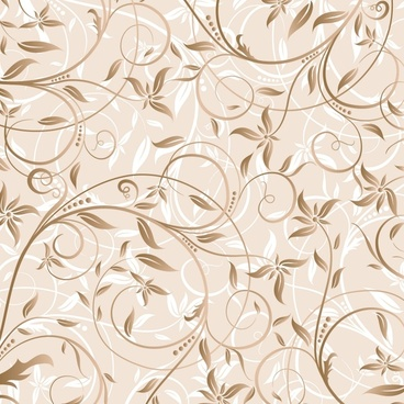 nature flora background elegant swirled design