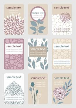 card cover templates elegant classical flat handdrawn decor