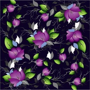 flower painting colorful dark decor petals sketch