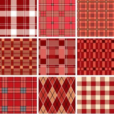 fabric pattern templates classic red flat geometric decor