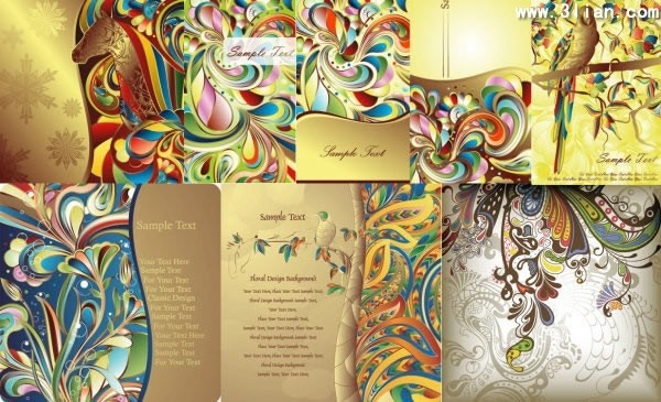 decorative background templates colorful nature themes decor