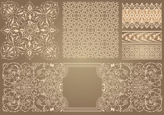 pattern design elements elegant classical seamless decor