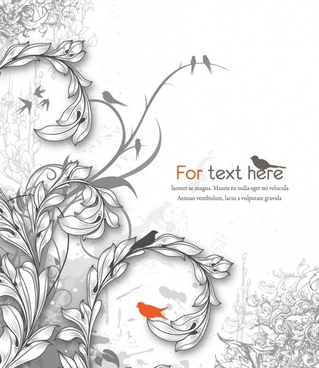 decorative nature background template elegant black white classic