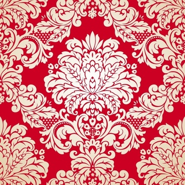traditional pattern template symmetrical seamless floral decor