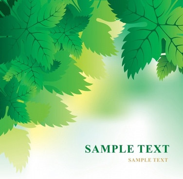 nature background green leaves ornament
