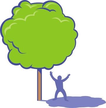 Shady Tree clip art