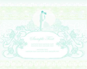 shallow color wedding backgrounds art vector