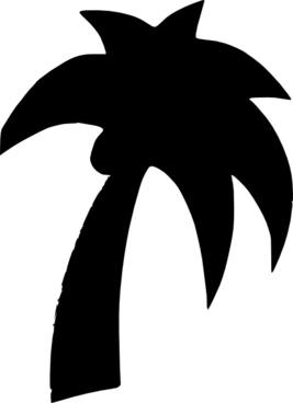 Shapes Palm Tree clip art