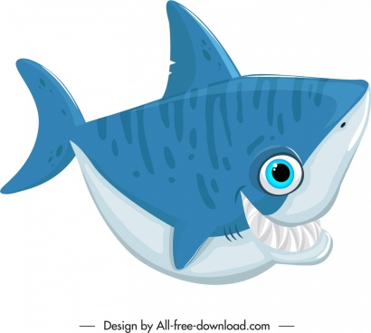 shark creature icon funny cartoon character sketch