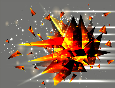 sharp crystal explosion vector