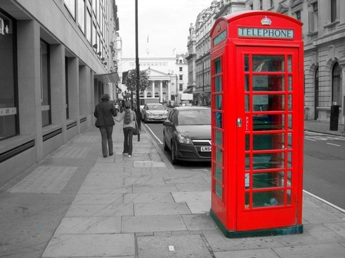shed telephone red