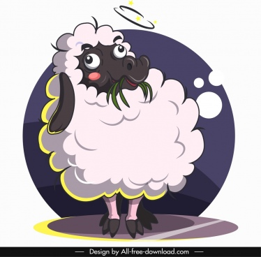 sheep animal avatar cute cartoon sketch