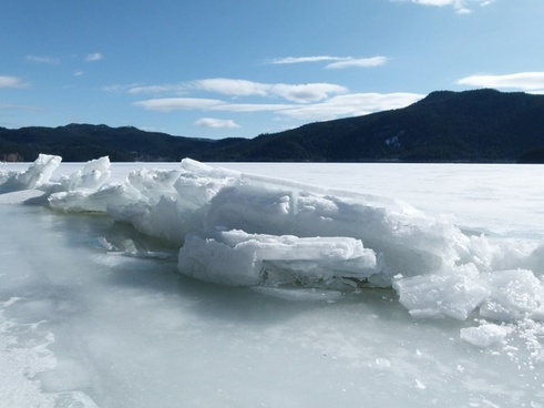sheet of ice winter frozen