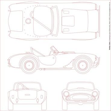 Shelby Cobra Blueprint clip art