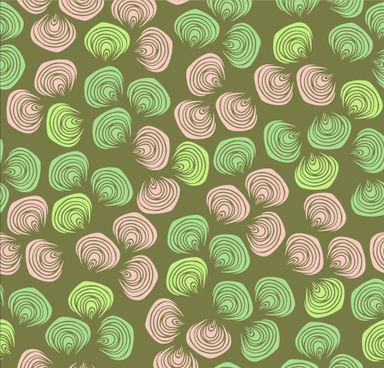 shell textures seamless pattern vector