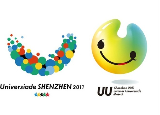 smiley logotypes modern flat colorful circles shapes