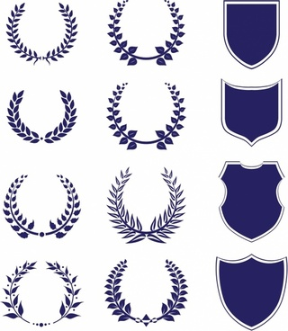 Shields And Laurel Wreaths