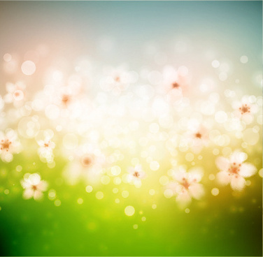 shine spring green background art vector