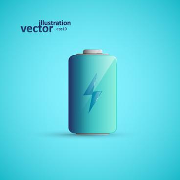 shining battery vector illustration