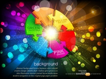 shining colorful business background vector