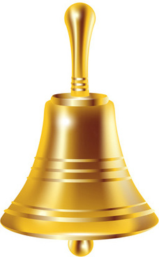 shining gold bell iocn vecto